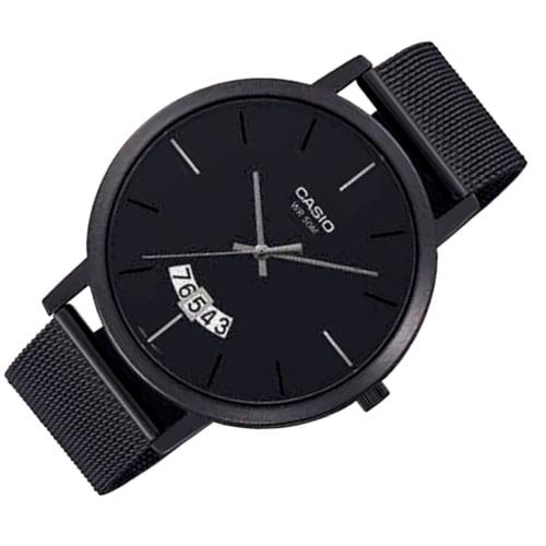 Đồng hồ Casio dây kim loại đen MTP-B100MB-1EV
