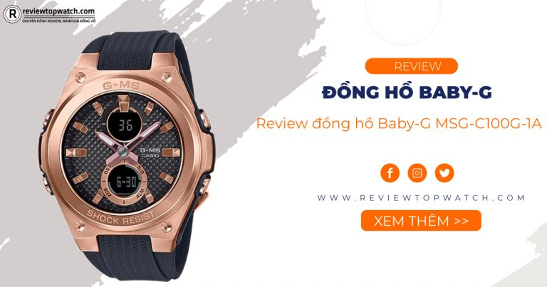 Review đồng hồ Baby-G MSG-C100G-1A